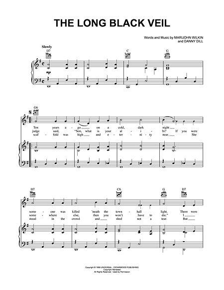 The Long Black Veil Sheet Music