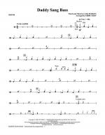 Daddy Sang Bass - Drums Sheet Music