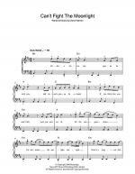 Can't Fight The Moonlight Sheet Music