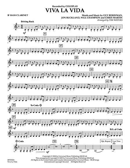 La Vida Bb Bass Clarinet Sheet Music