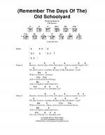 (Remember The Days Of The) Old Schoolyard Sheet Music