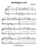 Seasons Of Love Sheet Music