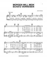 Morgen Will Mein Schatz Verreisen Sheet Music