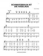 Schwarzbraun Ist Die Haselnuss Sheet Music