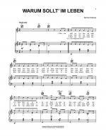 Warum Sollt' Im Leben Sheet Music