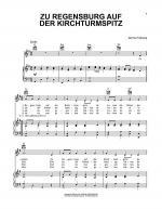 Zu Regensburg Auf Der Kirchturmspitz Sheet Music