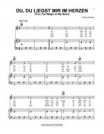Du, Du Liegst Mir Im Herzen (You, You Weigh On My Heart) Sheet Music