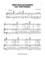 Wer Das Scheiden Hat Erfunden (He Knew Not To Love) Sheet Music