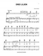 Drei Lilien (Three Lilies) Sheet Music