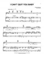 I Can't Quit You Baby Sheet Music