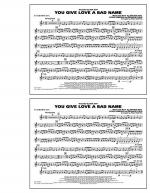 You Give Love a Bad Name - Eb Baritone Sax Sheet Music