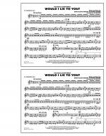 Would I Lie to You? - Eb Baritone Sax Sheet Music
