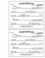 Would I Lie to You? - Snare Drum Sheet Music