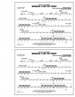 Would I Lie to You? - Aux Percussion Sheet Music