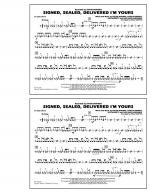 Signed, Sealed, Delivered I'm Yours - Snare Drum Sheet Music