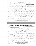 Signed, Sealed, Delivered I'm Yours - Cymbals Sheet Music