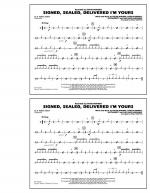 Signed, Sealed, Delivered I'm Yours - Aux Percussion Sheet Music