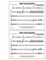 Don't Stop Believin' - Multiple Bass Drums Sheet Music