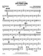 It's Too Late (Alto Saxophone Feature) - Aux Percussion Sheet Music