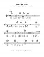 Massachusetts (The Lights Went Out) Sheet Music
