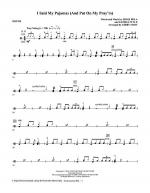 I Said My Pajamas (And Put On My Pray'rs) - Drums Sheet Music