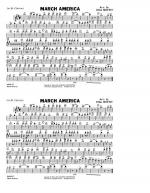 March America - 1st Bb Clarinet Sheet Music