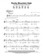 Rocky Mountain High Sheet Music