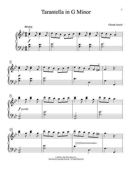 Tarantella In G Minor Sheet Music