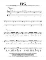 E-Pro Sheet Music
