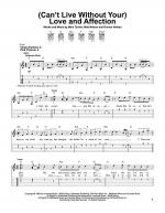 (Can't Live Without Your) Love And Affection Sheet Music