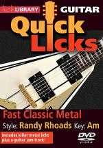 Fast Classic Metal - Quick Licks Sheet Music