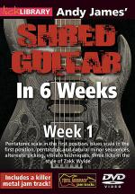Andy James' Shred Guitar in 6 Weeks Sheet Music