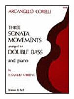 Three Sonata Movements for Double Bass and Piano Sheet Music