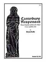 Canterbury Responses Sheet Music