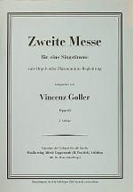 Zweite Messe Sheet Music