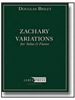 Zachary Variations for Tuba and Piano Sheet Music