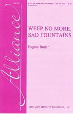 Weep No More, Sad Fountains Sheet Music