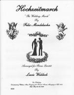 Wedding March Sheet Music