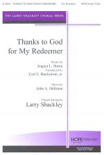 Thanks to God for My Redeemer Sheet Music