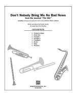 Don't Nobody Bring Me No Bad News (from the musical The Wiz) Sheet Music