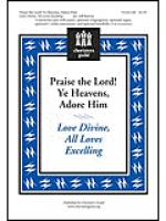 Praise the Lord! Ye Heavens, Adore Him Sheet Music