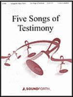 Five Easy Songs of Testimony Sheet Music