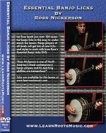 Essential Banjo Licks with Ross Nickerson DVD Sheet Music