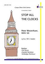 Stop all the Clocks Sheet Music