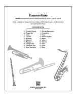 Summertime (from the musical Porgy and Bess) Sheet Music