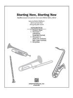 Starting Here, Starting Now (from the musical Starting Here, Starting Now) Sheet Music
