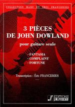 3 pieces de J. Dowland Sheet Music