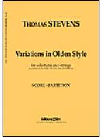 Variations in Olden Style Sheet Music