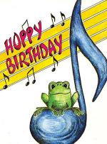 Greeting Cards: Frog and 8th Notes (Pack of 12) Sheet Music