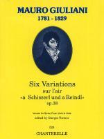Giuliani: 6 Vars. Op. 38 (Gtr, Flt, Vln, Viola) Sheet Music
